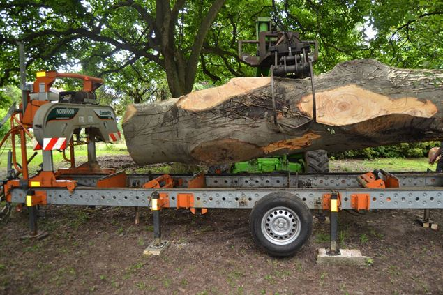Portable Sawmill Hardwood Mills Gt26 Saw Mill Milling A Log With Bandsaw You