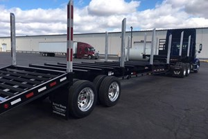 2018 Battle Wagon Trailers 18in Drop Frame with Dovetail  Trailer-Log