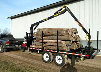 AM Machinery RFR07 / 190 Log Trailer