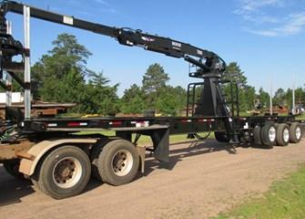 Galvastar 45ft Rail Trailer w/ Hood 7000 Knuckleboom Carrier Trailer